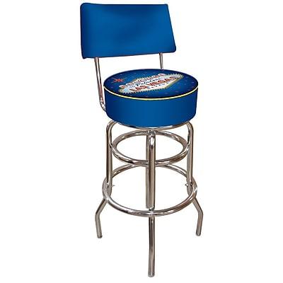Trademark 40'' Novelty Swiveling Base Padded Bar Stool, Blue (844296015665)