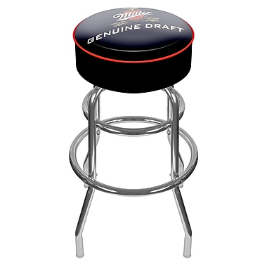 Trademark 30'' Novelty Swiveling Base Padded Bar Stool, White (844296043491)