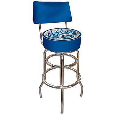 Trademark 40'' Novelty Swiveling Base Padded Bar Stool, Blue (844296015719)