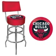 "Trademark 41 3/4"" NBA Padded Swivel Bar Stool With Back, Milwaukee Bucks"