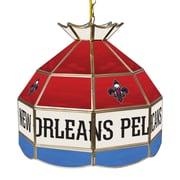 "Trademark NBA 16"" Tiffany Gameroom Lamp, New Orleans Pelicans"