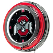"Trademark 14"" Double Ring Neon Clock, Ohio State Shadow Brutus"