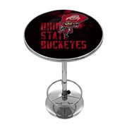 Trademark Chrome Pub Table, Ohio State Smoking Brutus