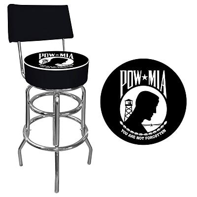 Trademark 40'' Novelty Swiveling Base Padded Bar Stool, Black (844296085095)