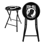 "Trademark 18"" Cushioned Folding Stool, POW"