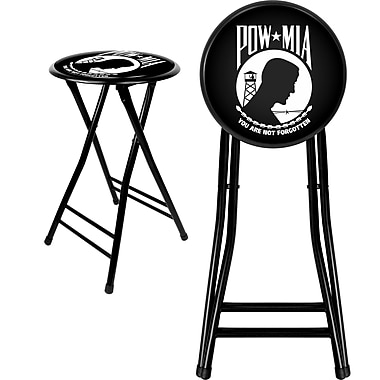 Trademark Not available 24'' Novelty Folding Stool Padded Bar Stool, Black (844296085156)