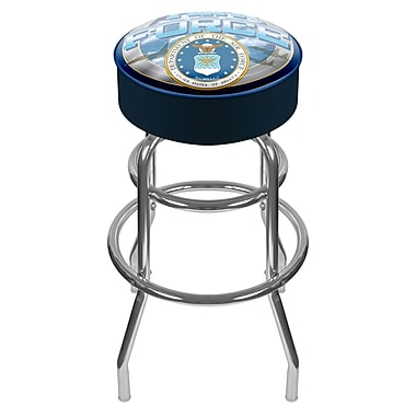Trademark 30'' Novelty Swiveling Base Padded Bar Stool, Blue (844296011414)