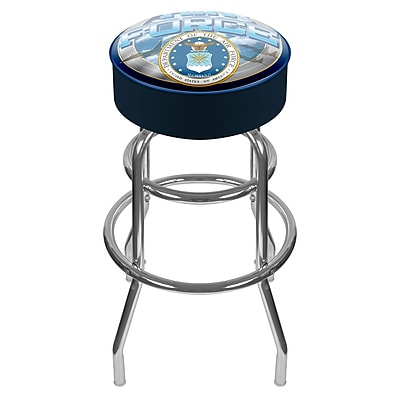 Trademark 30'' Novelty Swiveling Base Padded Bar Stool, Blue (886511379527)
