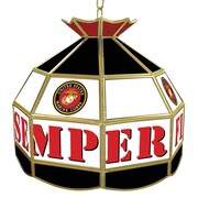 "Trademark 16"" Tiffany Gameroom Lamp, United States Marine Corps"