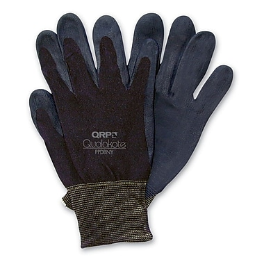 QRP Qualakote Nylon Black Assembly Inspection Gloves, Large