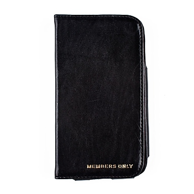 Members Only book case for Samsung Galaxy S4, Black