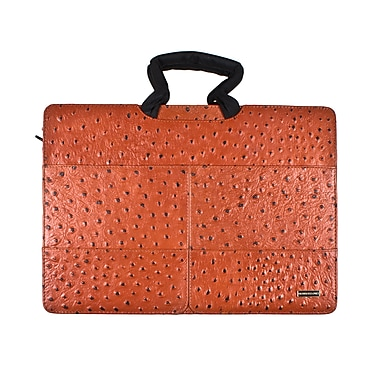 Members Only Tablet/Laptop standard briefcase, Cognac ostrich