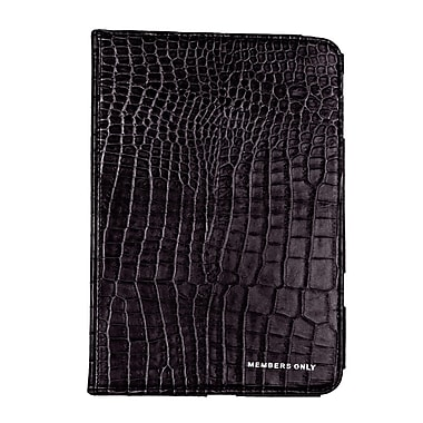 Members Only Bovine Leather Portfolio Case for Apple iPad Mini, Black Gator
