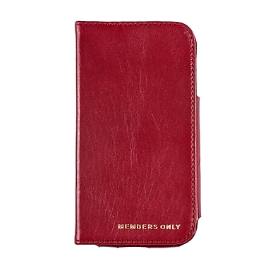 Members Only book case for Samsung Galaxy S4, Red