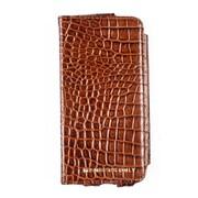 Members Only portfolio case for iPhone 5/5s/5c, Cognac gator