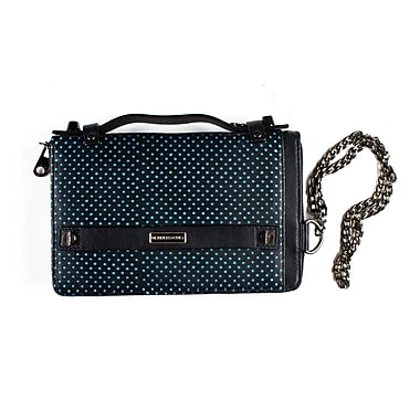 Members Only essential clutch with snap, Blue