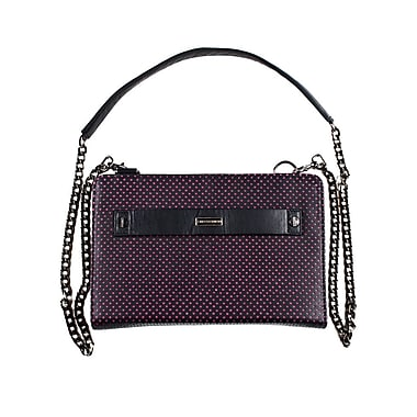 Members Only clutch with shoulder strap, Pink