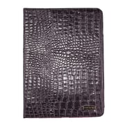 Members Only Bovine Leather Portfolio Case for Apple iPad Air, Gray Gator