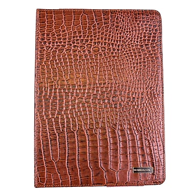 Members Only Bovine Leather Portfolio Case for Apple iPad Air, Cognac Gator