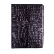 Members Only Bovine Leather Portfolio Case for Apple iPad Air, Black Gator