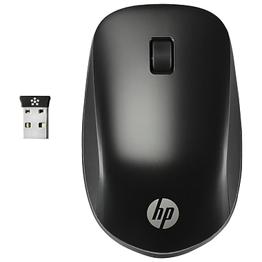 HP Ultra Mobile Wireless Mouse, Wireless, Radio Frequency, USB, Scroll Wheel, (H6F25UT#ABA)