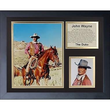 Legends Never Die John Wayne - Wayne w/ Horse Framed Memorabili