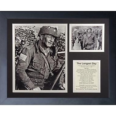 Legends Never Die John Wayne - Longest Day Framed Memorabili