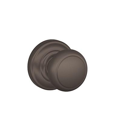 Schlage Andover Dummy Knob; Oil Rubbed Bronze