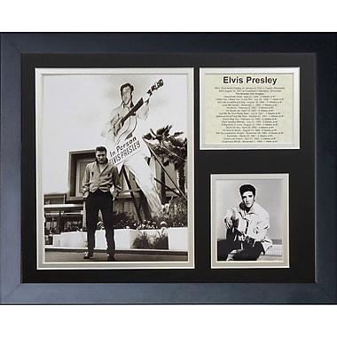 Legends Never Die Elvis Presley in Person Framed Memorabili