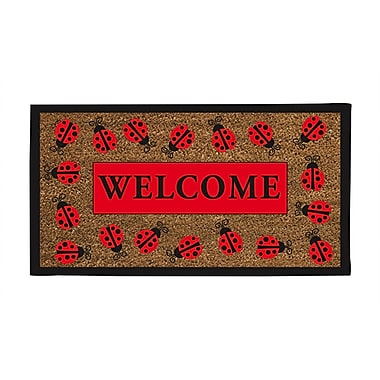 Evergreen Flag & Garden Lady Bug Welcome Doormat