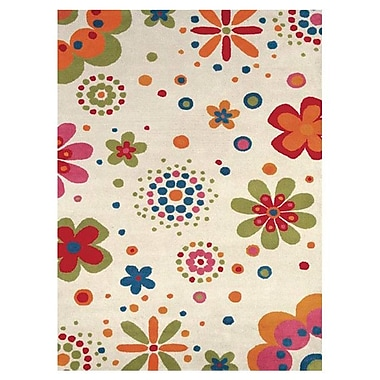 Dynamic Rugs Fantasia Fan Girls Beige Bouquet Area Rug; Rectangle 3' x 5'