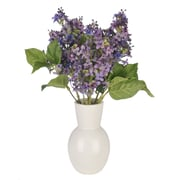 House of Silk Flowers Artificial Lilac in Ceramic Vase