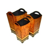 Cheungs 3-Piece Manufactured Wood Pot Planter Set
