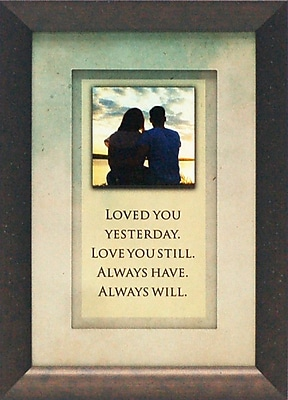 Artistic Reflections Loved You Yesterday. Love You Still. by Brett West Framed Graphic Art