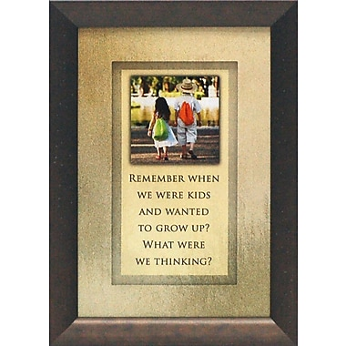 Artistic Reflections Remember When We Were Kids by Brett West Framed Graphic Art
