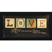 Artistic Reflections Love One Another by Marla Rae Framed Textual Art