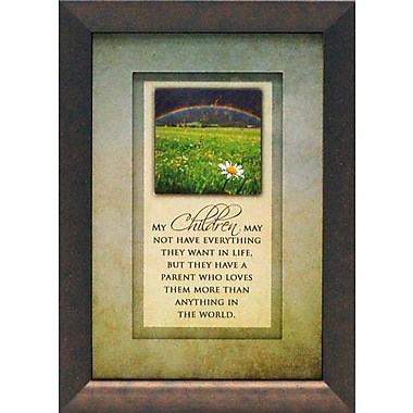 Artistic Reflections My Children May Not Have Everything by Brett West Framed Graphic Art