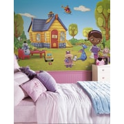 "RoomMates ""Doc McStuffins"" Chair Rail Prepasted XL Wallpaper Mural"