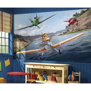 "RoomMates ""Disney Planes"" Chair Rail Prepasted XL Wallpaper Mural"