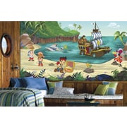 "RoomMates ""Jake and the Never Land Pirates"" Chair Rail Prepasted XL Wallpaper Mural"