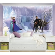 "RoomMates ""Disney Frozen"" Chair Rail Prepasted Wallpaper Mural"