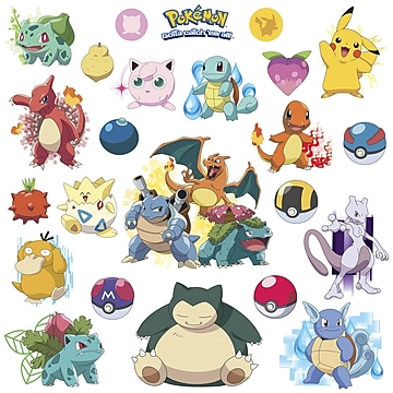 RoomMates  Pokemon Iconic  Peel and Stick Wall Decal