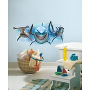 "RoomMates ""Finding Nemo Sharks"" Peel and Stick Giant Wall Decal"