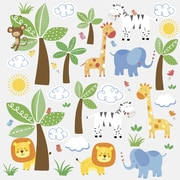 "RoomMates ""Jungle Friends"" Peel and Stick Wall Decal"