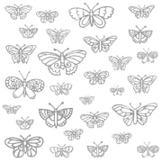 "RoomMates ""Glitter Butterflies"" Peel and Stick Wall Decal"