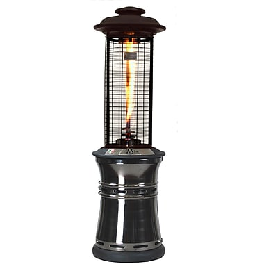 Lava Heat Italia Ember Collapsible Liquid Propane Gas Patio Heater, Gun Metal Finish