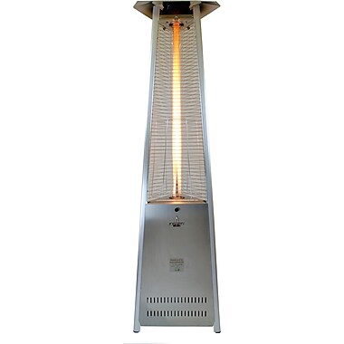 Lava Heat Italia Lava Lite Z7 Liquid Propane Gas Patio Heater, Stainless Steel Finish