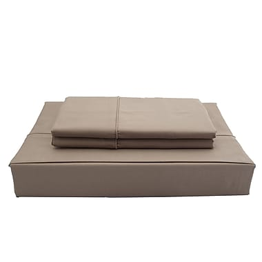 Ambassador Solid Sheet Set, 250 Thread Count, Double, Mink