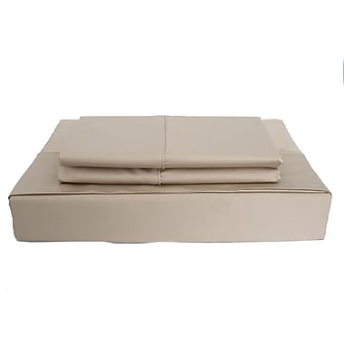 Maholi Bamboo Solid Sheet Set, 310 Thread Count, Double, Taupe