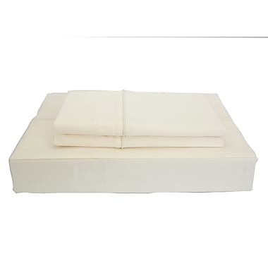 Maholi Duncan Sheet Set, 620 Thread Count, Twin, Ivory
